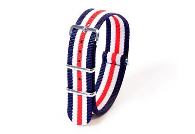 Textil Nato Strap - blau/weiß/rot