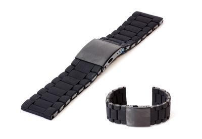 Uhrenarmband 28mm Edelstahl schwarz