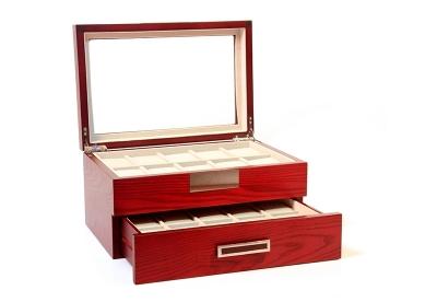 Design Uhrenbox für 20 Uhren-cherry matt