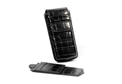 Uhren-Etui für eine Uhr-croco schwarz