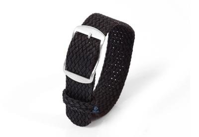 Perlon Uhrenarmband 18mm schwarz