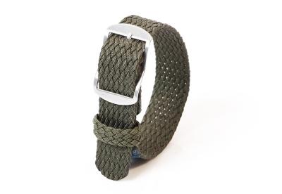 Perlon Uhrenarmband 18mm dunkelgrün