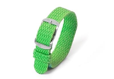 Perlon Uhrenarmband 18mm grün