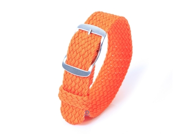 Perlon Uhrenarmband 18mm orange