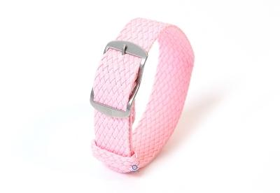 Perlon Uhrenarmband 18mm rosa