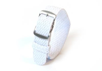 Perlon Uhrenarmband 18mm weiß
