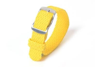 Perlon Uhrenarmband 18mm gelb