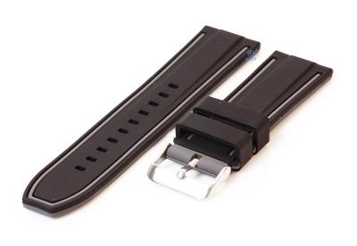 Silikon Uhrenarmbänder 26mm schwarz/grau (umdrehbar)