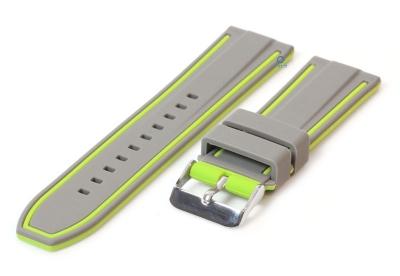 Silikon Uhrenarmbänder 26mm grau/grün (umdrehbar)