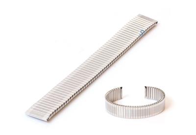 Elastisches Uhrenarmband ohne Schließe - 16mm Silber