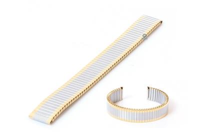 Elastisches Uhrenarmband ohne Schließe - 16mm Gold/Silber