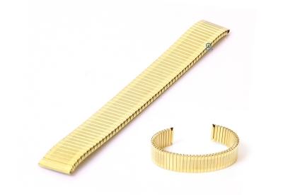 Elastisches Uhrenarmband ohne Schließe - 16mm Gold