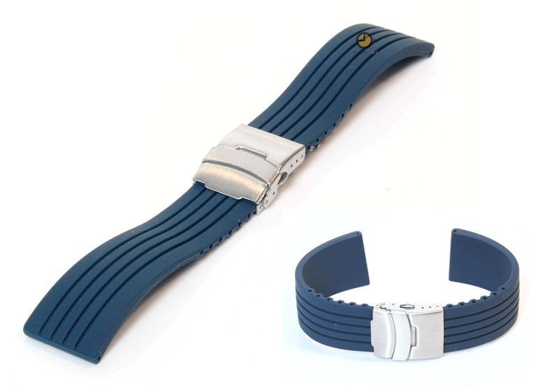 24mm silikon uhrenarmband blau. Black Bedroom Furniture Sets. Home Design Ideas