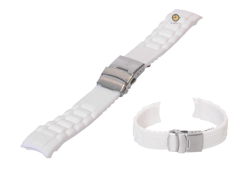 Silikon Rolex-stil Uhrenarmband 20mm Weiß  Uhrenarmbandshop.de