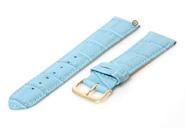 Uhrenarmband 16mm Blau Leder