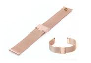 Uhrenarmband 18mm Roségold Mailänder Stahl