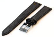 Uhrenarmband 12mm Schwarz Büffelleder